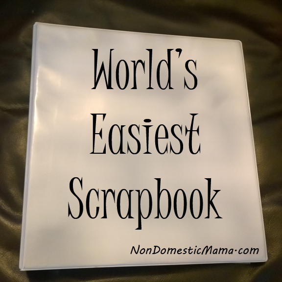 2 Easy Steps to Make the World's Easiest Scrapbook - An easy way to organize all those mementos.