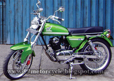 Modifikasi motor: GL-Max Honda CB 100 '2000 & '75 From Surabaya