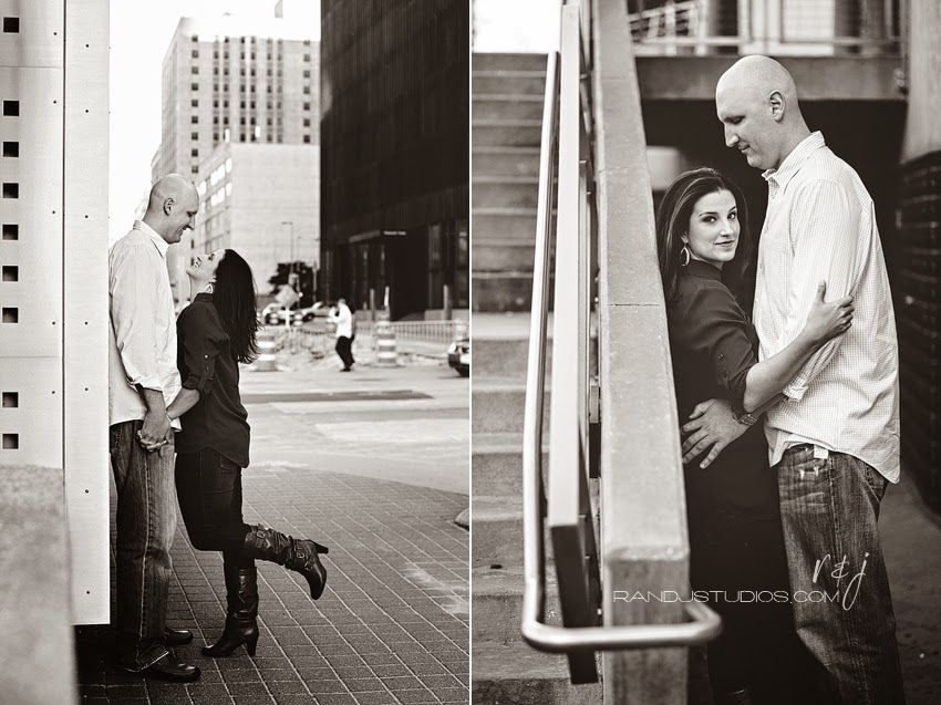 Downtown Houston Engagement Photography