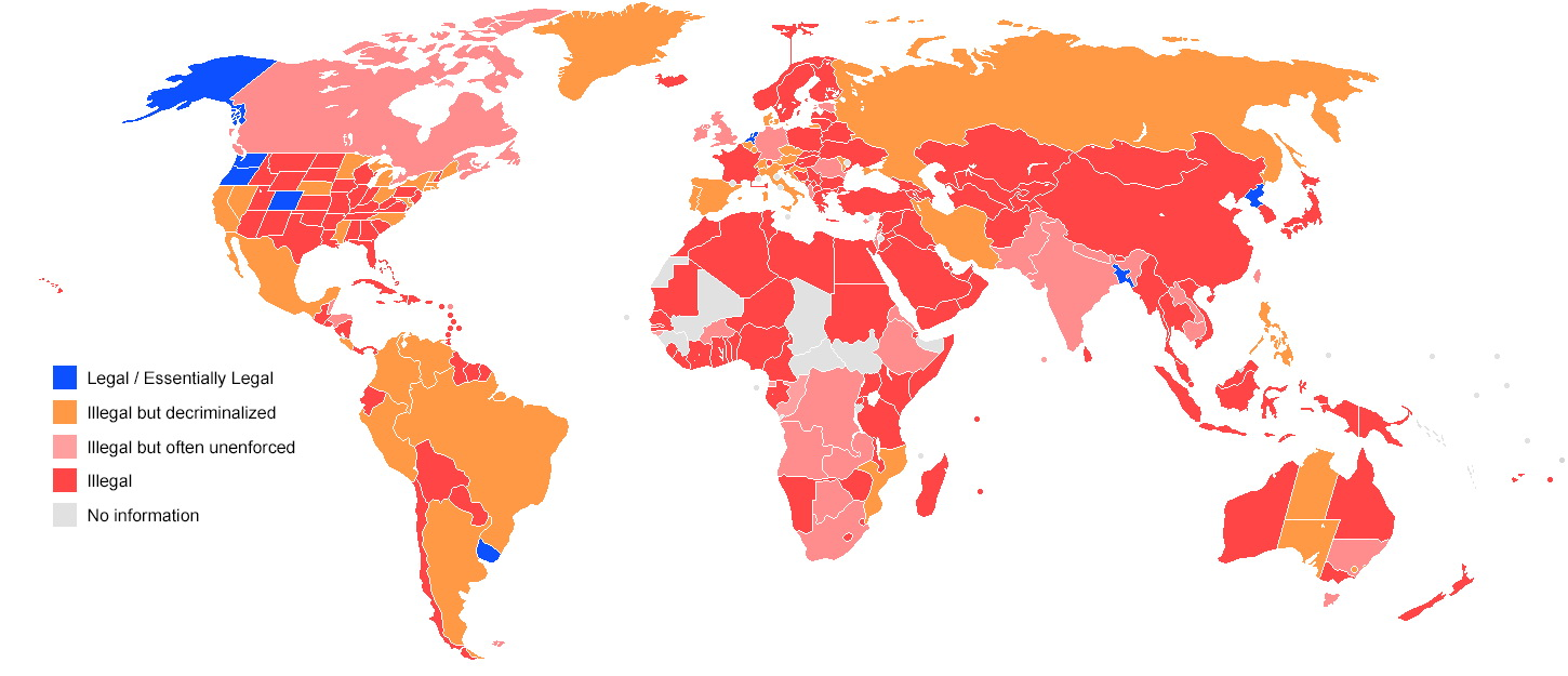Legality of weed by country