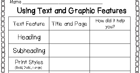Printables. Nonfiction Text Features Worksheets. Gozoneguide ...