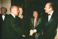 Arnon Milchan and French President Jacques Chirac