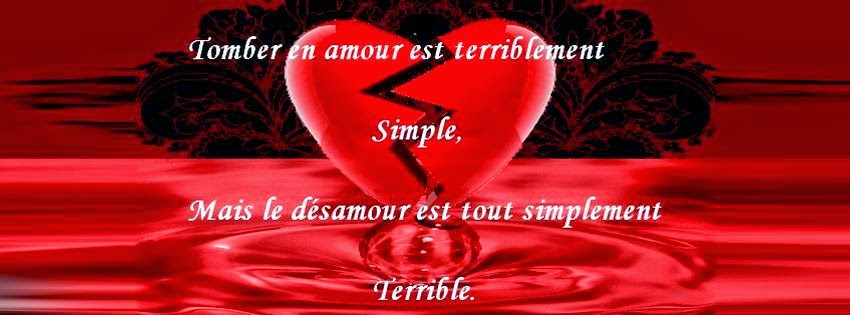Jolie couverture facebook de citation d'amour