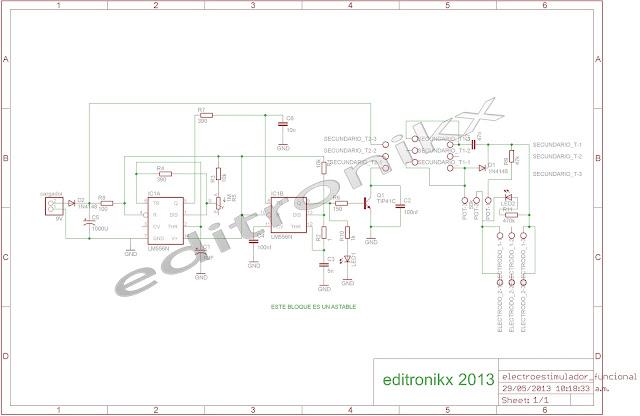 Circuito Bluetooth Casero : La electrónica a tu alcance electroestimulador casero