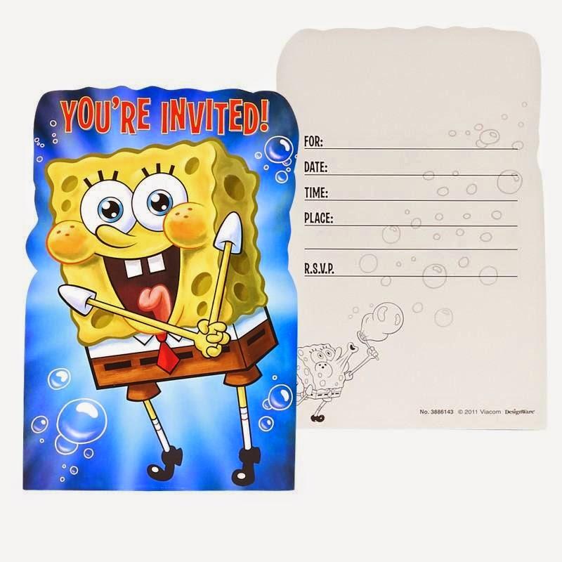 SpongeBob Squarepants Party invite