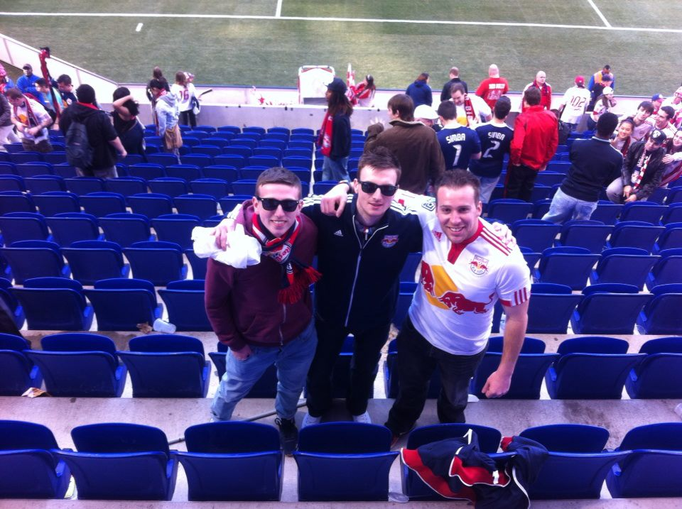 Looking like a 90s rock band at Red Bull Arena