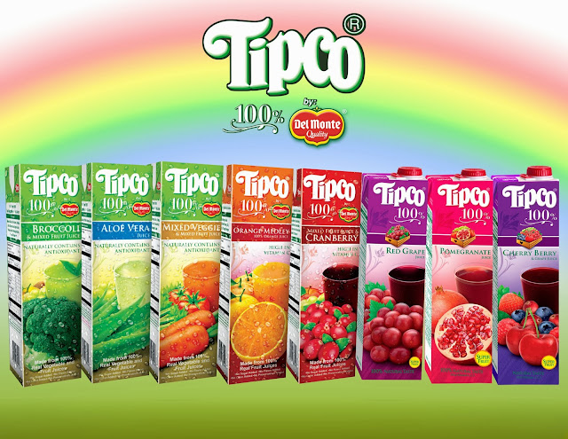 Tipco 100% Juices by Del Monte