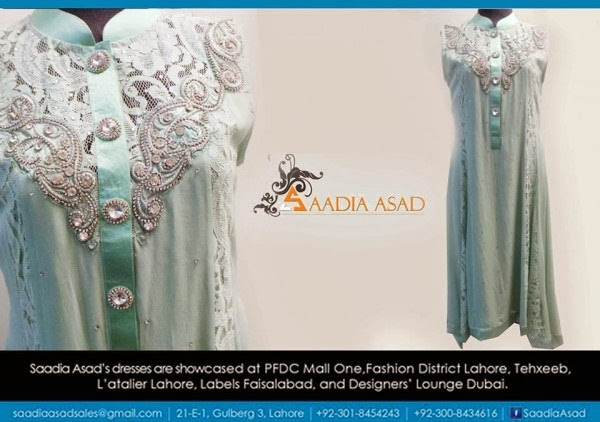 New Stylish Winter Party Wear Dresses Collection 2013-14 For Women & Girls By Saadia Asad