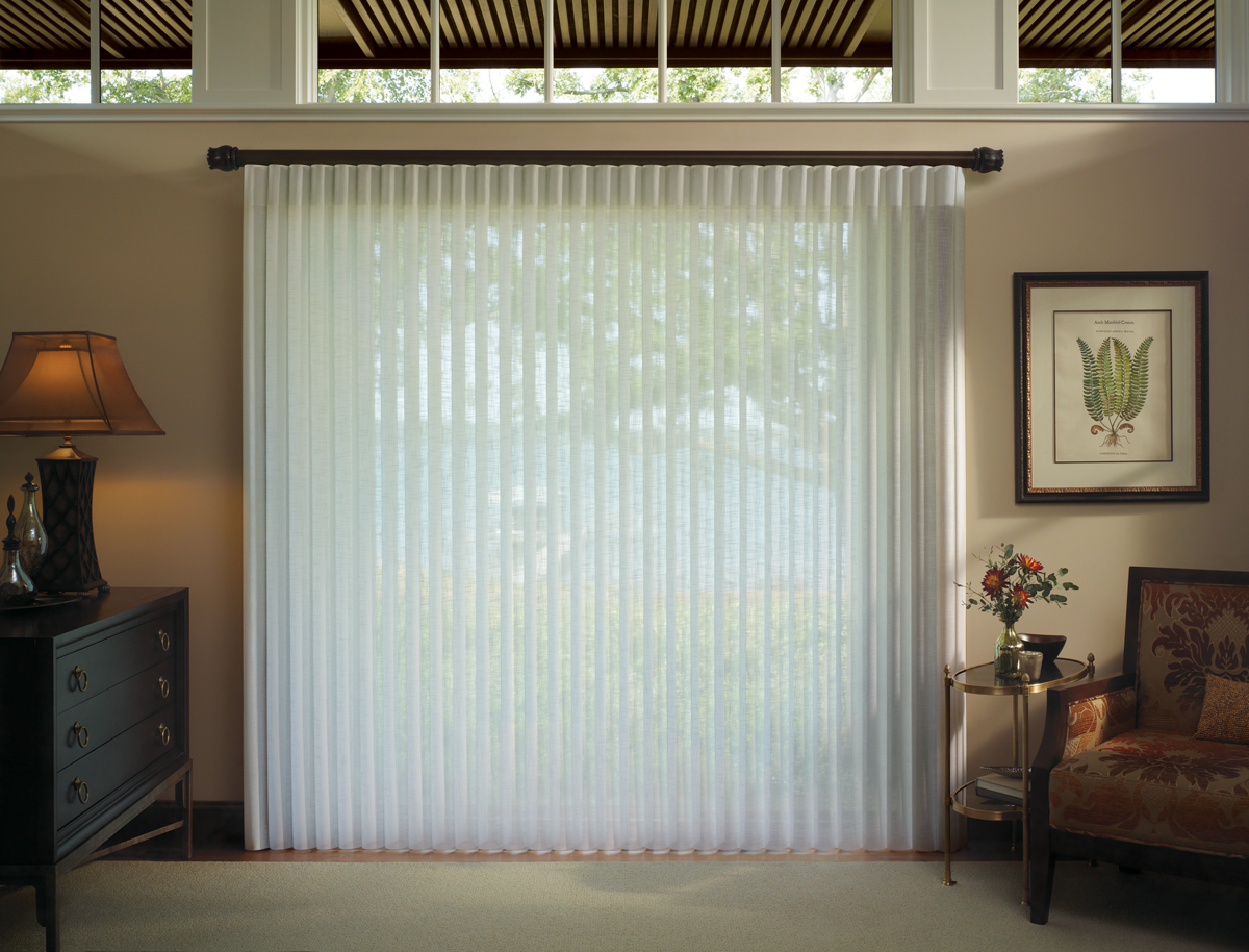 Window treatment talk window treatment solutions for - Curtain options for sliding glass doors ...