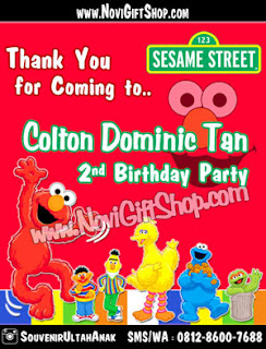 Thanks Card Elmo OK Sample Tema Design Thanks Card (Kartu Ucapan Terima Kasih)
