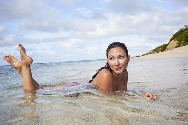 Amy West in Scrub Island