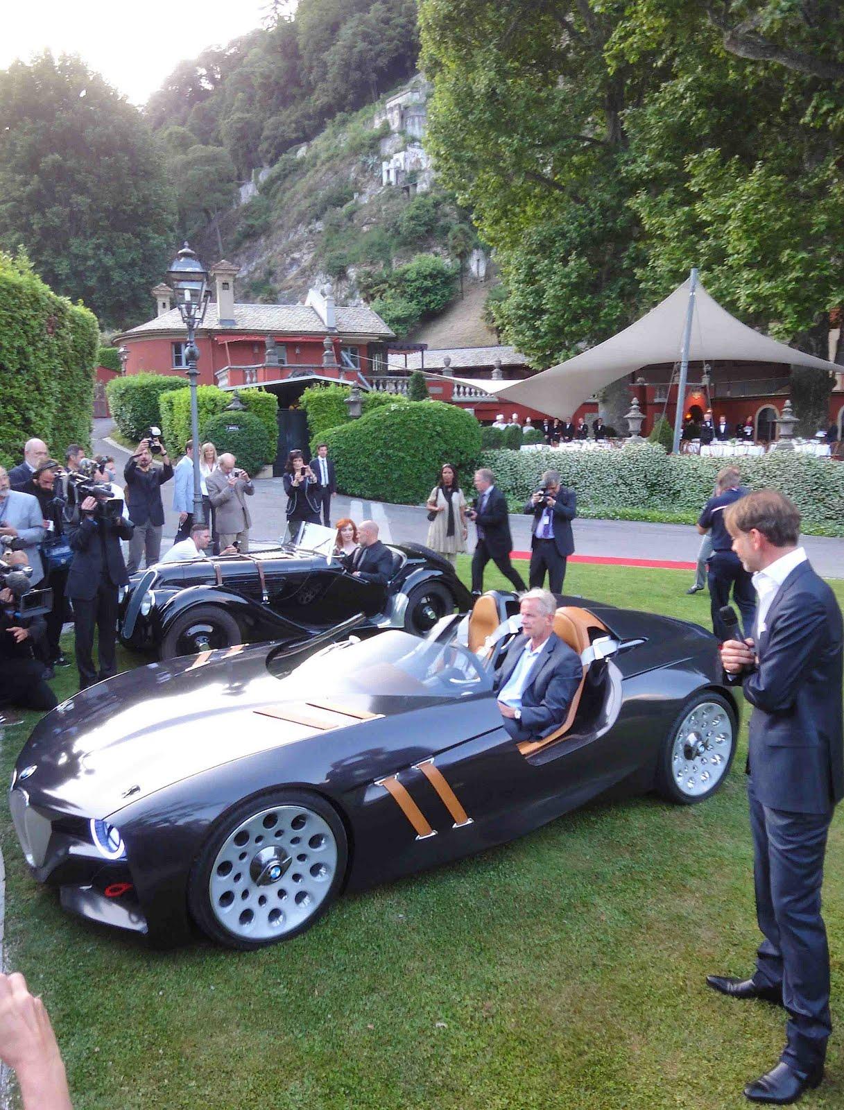 prototype car at the Villa