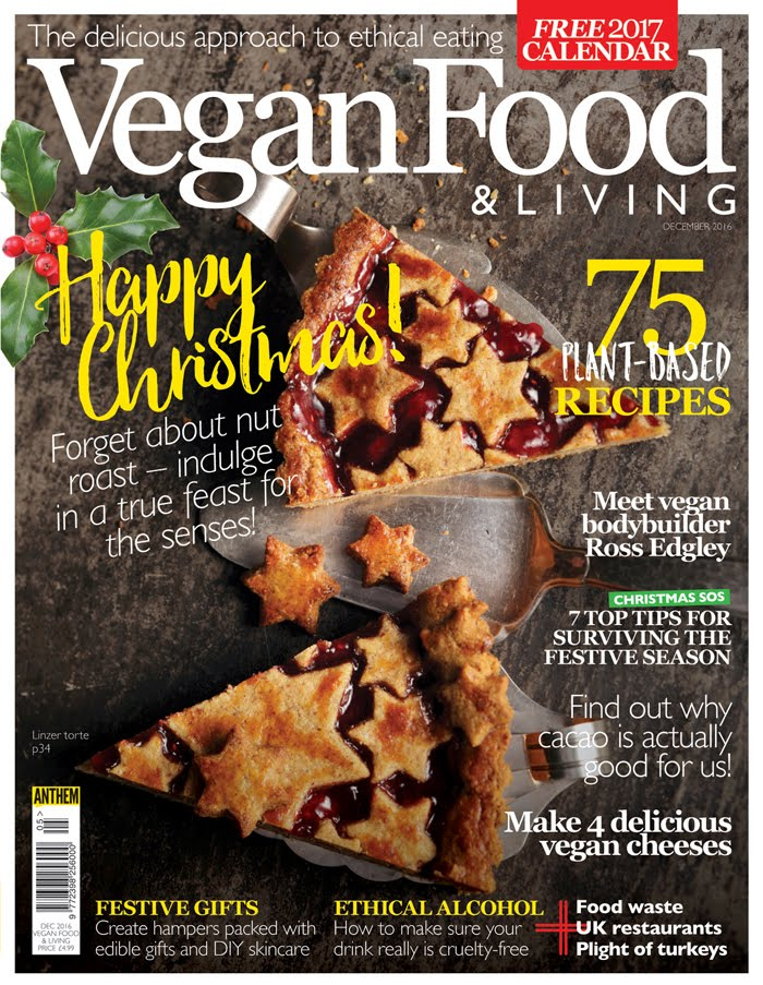 I'm featured in Dec 2016 & Jan 2017 Vegan Food & Living magazines