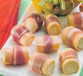 Palmitos con Jamón, en Salsa de Naranja