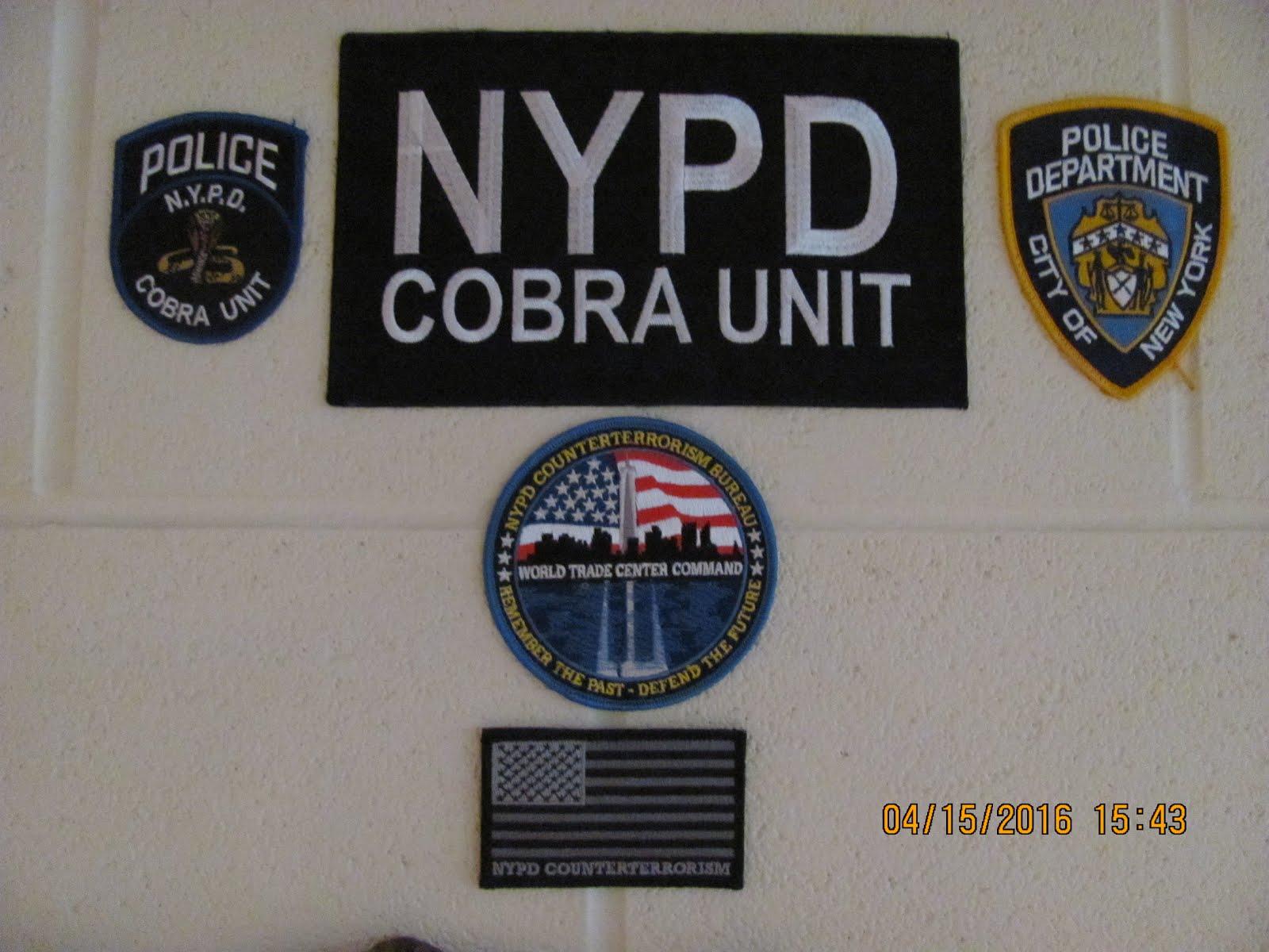 NYPD COBRA UNIT PatchNYPD Counterterrorism Bureau - World Trade Center Command Patch