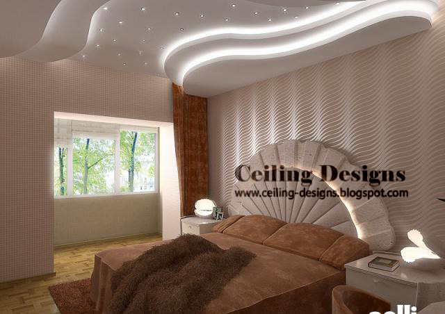 modern false ceiling design for bedrooms with hidden lights