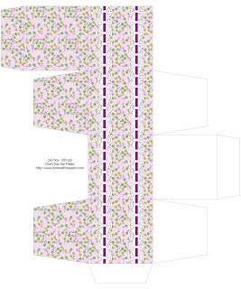 Floral printable box 1