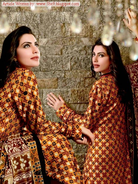 Pashmina Woolen Dress of Gul Ahmed Fall/Winter 2014-2015