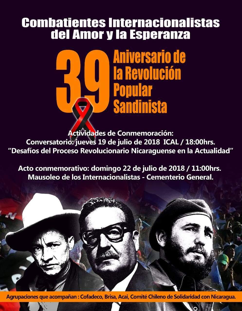 39 ANIVERSARIO DE LA REVOLUCIÓN POPULAR SANDINISTA