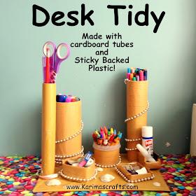 DIY Desk Tidy crafts muslim blog