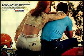 propaganda jeans US Top - 1978; moda anos 70; os anos 70; propaganda na década de 70; Brazil in the 70s, história anos 70; Oswaldo Hernandez;