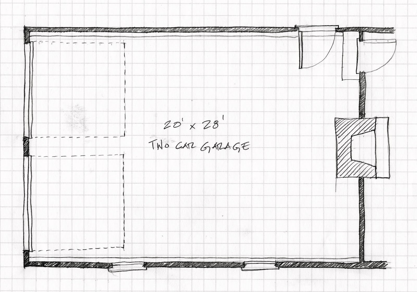 Original 20 x 28 garage plan title=