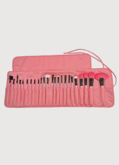 China Wholesale Clothes - Sweet Pink 24 Pcs Professional Make Up Brush Set