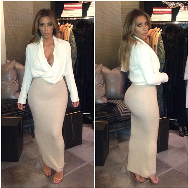 """Kim Kardashian Wardrobe Malfunction As Dress Breaks Before """"Ellen"""""""