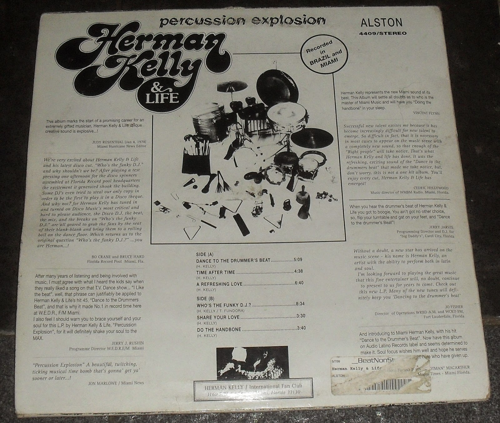 Herman Kelly Life Dance To The Drummer Beat Whos the funky DJ