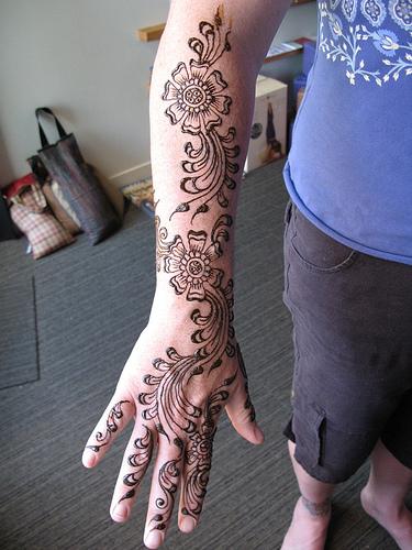 Arm Mehndi Designs : Latest easy arm mehndi desings