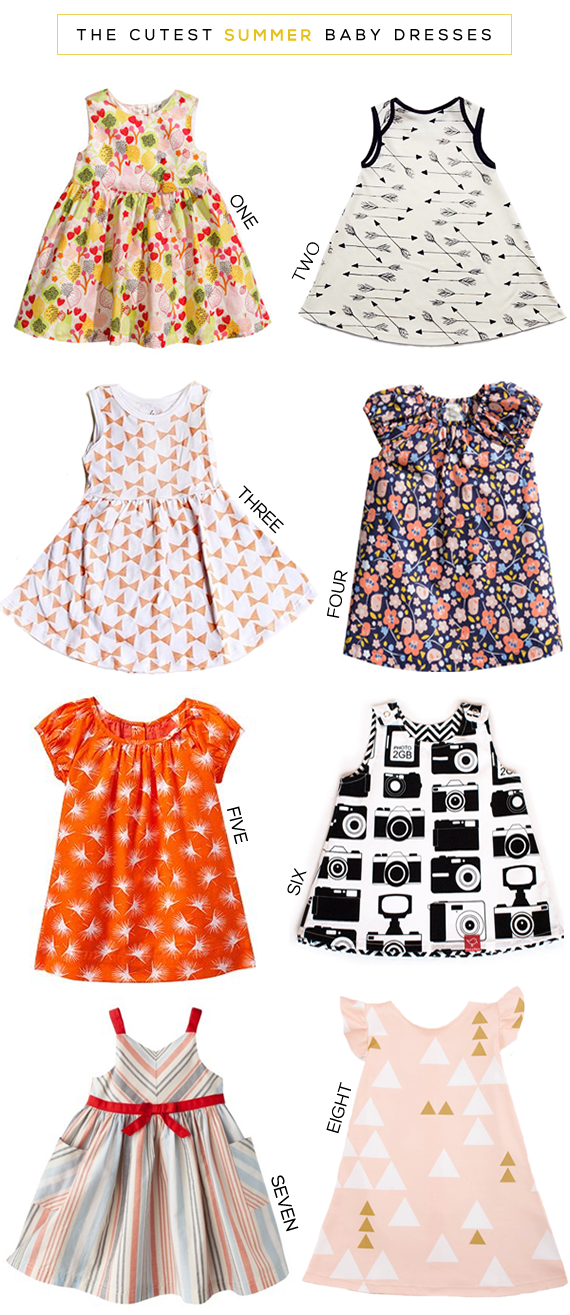 The Cutest Summer Baby Dresses