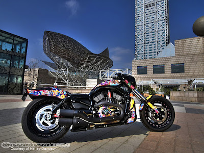Harley Davidson full colours Custom Edition Wallpaper