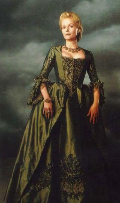 Katrina Van Tassel Sleepy Hollow Victorian stripe Dress Gothic Costume Gown