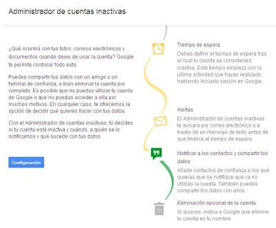 testamento cuentas google