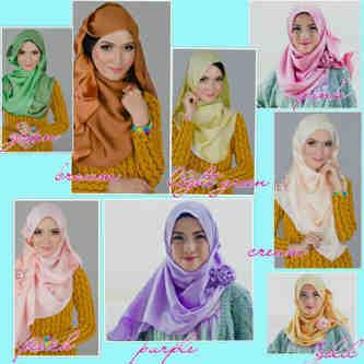 JILBAB SYAHRINI Pashmina Satin Silk By Creamy Hijab