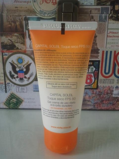 Capital Soleil, Toque Seco, FPS 50, Vichy, protetor solar, rosto, pele, oleosa