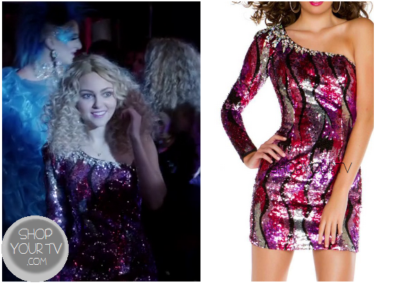 The Carrie Diaries: Season 1 Episode 8 Carrie's Sequin One Shoulder Dress