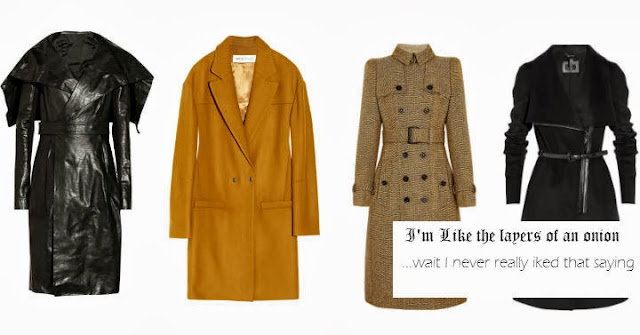 Fall Coats, rick owens, rick owen coat, leather coat, chloe, see by chloe, see by chloe coat, yellow coats, tweed coats, Burberry, Burberry coat, mackage, mackage coat, designer coats