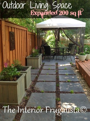 Outdoor Living Space Expanded by over 200 sq ft.