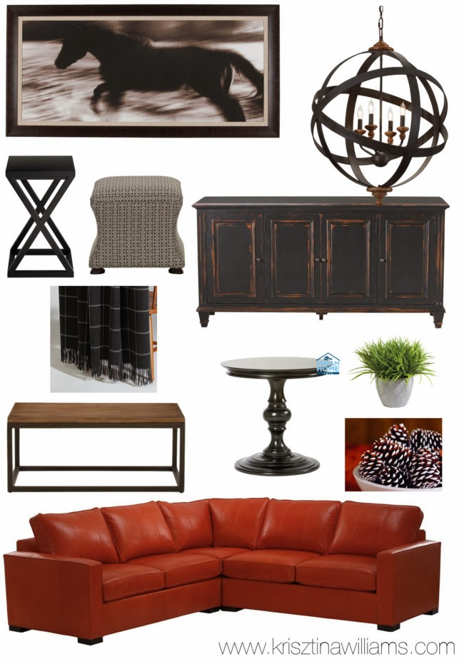 Get the look for less the hgtv 2014 dream home family room for Modern home decor for less