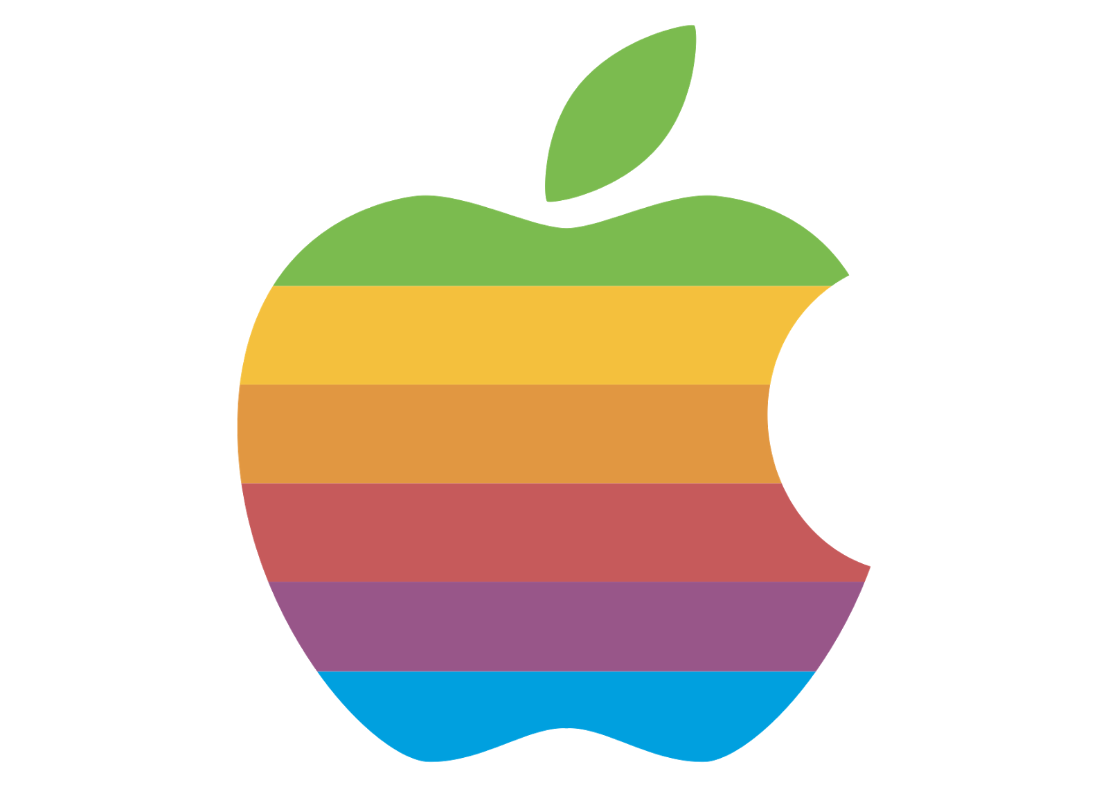 Apple logo vector full color technology company Free vector program mac