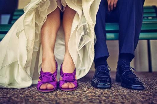 beautiful purple wedding shoes groom bride