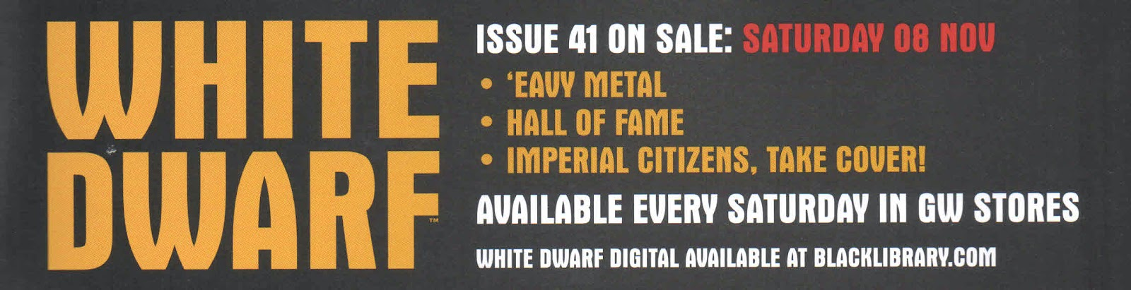 Adelanto de la White Dwarf Weekly número 41