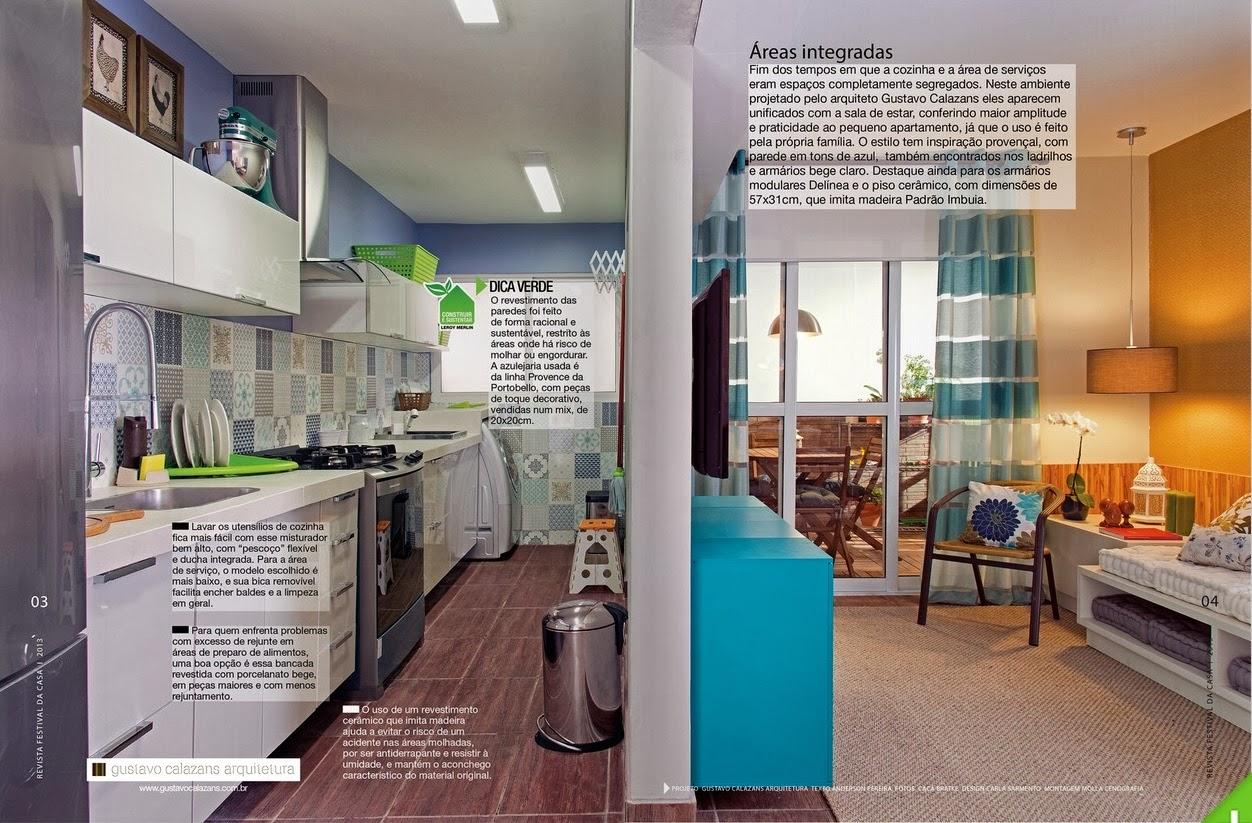 cozinha foi integrada com a sala de estar dando uma maior amplitude  #147A90 1252x823 Azulejo Banheiro Leroy