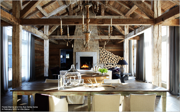 Run with the hunted rustic luxe Rustic chic interior design