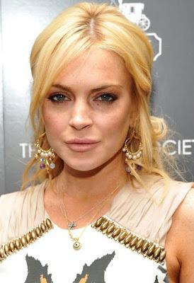 Lindsay Lohan Gold Decorative Earrings