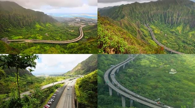 Jalan Tol Paling Keren dan Ekstrim di Hawaii