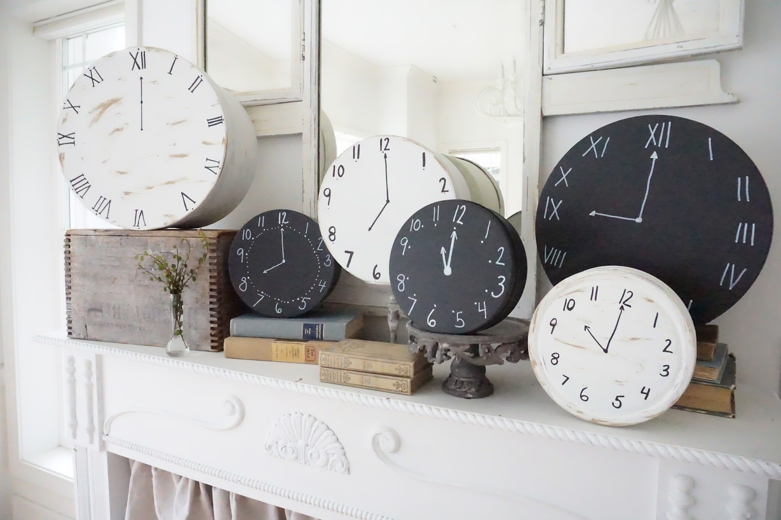 little farmstead new year 39 s eve ideas and diy clocks. Black Bedroom Furniture Sets. Home Design Ideas