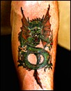 art dragon tattoo on foot