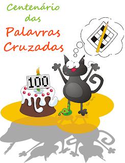 Um gato a comemorar o Centenário das Palavras Cruzadas